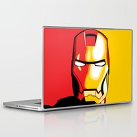 iron man Laptop & iPad Skins featuring Iron Man by C.Rhodes Design