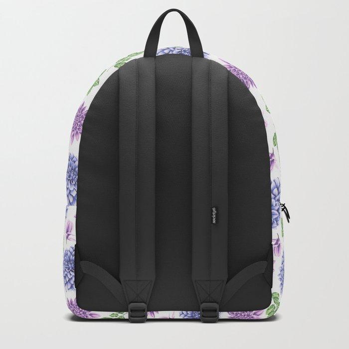 Lavender Garden Pattern Backpack