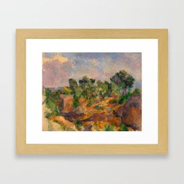 "Paul Cezanne ""Bibémus"" Framed Art Print"