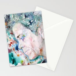 LOU REED - watercolor portrait Stationery Cards