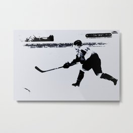 He shoots, He scores! - Hockey Player Metal Print