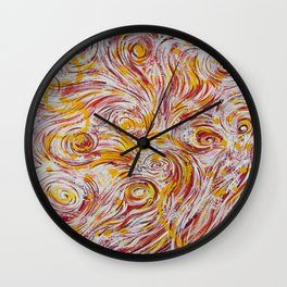 Sunshine Swirly Wall Clock