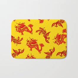 Phoenix Dragon Feng Shui Bath Mat