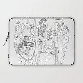 Cowboy Robbing Saloon Drawing Laptop Sleeve