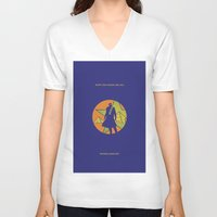 jojo V-neck T-shirts featuring EGYPT (CHAINS ARE ON) - DIO - JOJO by Mirco Greselin