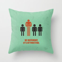 Lab No. 4 - Be Different, Its Attractive Corporate Start-Up Quotes Poster Throw Pillow