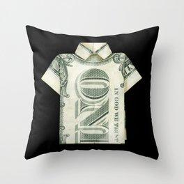 One dollar shirt Throw Pillow