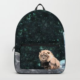Lion King of the Emerald Panthera Galaxy Backpack