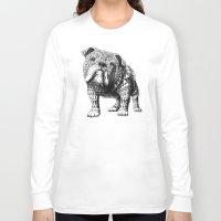 english bulldog Long Sleeve T-shirts featuring English Bulldog by BIOWORKZ
