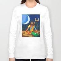 shiva Long Sleeve T-shirts featuring Lord Shiva by Purple Soul