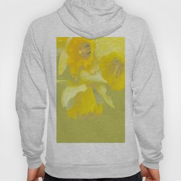 Sign of Spring - Yellow Narcissus on Spring Green Background #decor #society6 #buyart Hoody