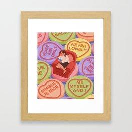love being alone Framed Art Print