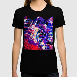 Fluid Abstract 35; Chaos in an Ocean Full of Fish T-shirt