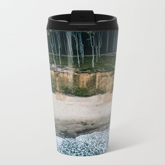 Waves, Woods, Wind and Water - Landscape Photography Metal Travel Mug