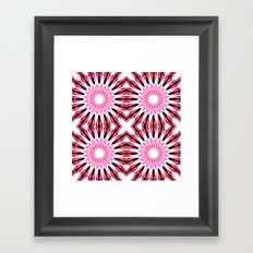 Pink Pinwheel Flowers Framed Art Print
