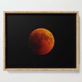 Moon eclipse 2018 Serving Tray