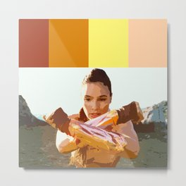 Diana Prince (Color Swatch) Metal Print