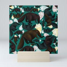 Marten tropical pattern Mini Art Print