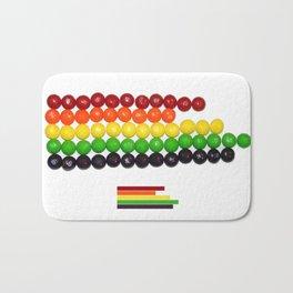 Skittle Stats Bath Mat