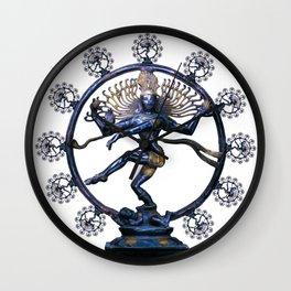 Shiva Nataraj, Lord of Dance (an actual factual fractal) Wall Clock