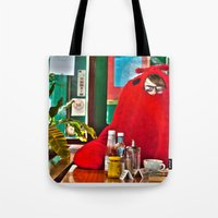 lobster Tote Bags featuring Lobster by Suzi Corker