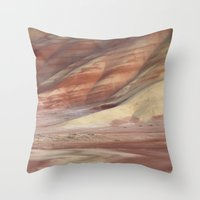 minerals Throw Pillows featuring Hills Painted by Earth Minerals by Leland D Howard