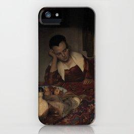 "Johannes Vermeer ""A Woman Asleep at Table"" iPhone Case"