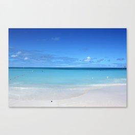 Caribbean Paradise Beach on Antigua Canvas Print