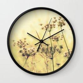 Wildflower Dreams Wall Clock