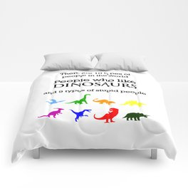 10 Types of People (Dinosaurs) Comforters