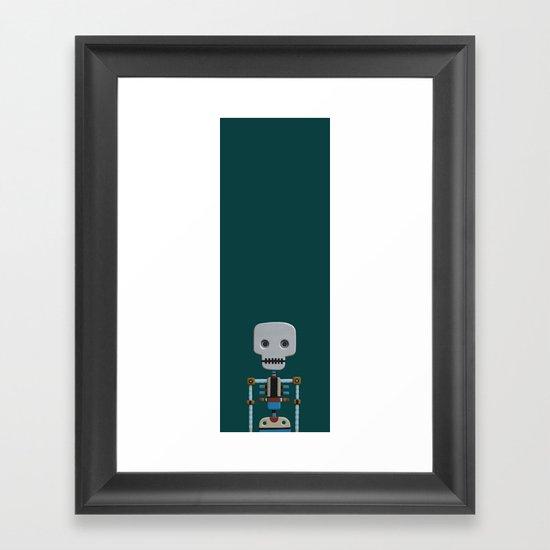 The athlete Framed Art Print