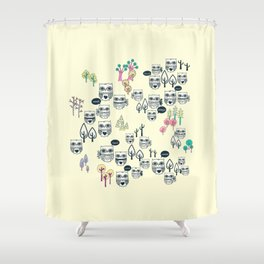 Forest Of Owls Shower Curtain