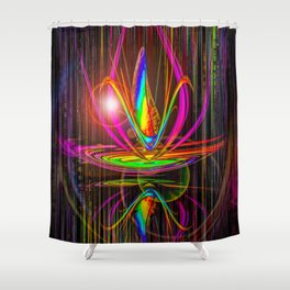 Abstract perfection - Light and shadow Shower Curtain