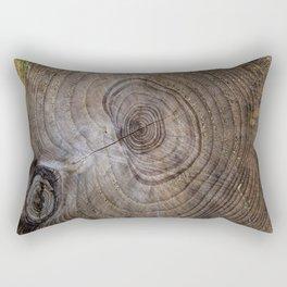 Tree Rings rustic decor Rectangular Pillow