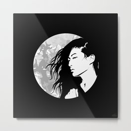 Moon Girl Metal Print