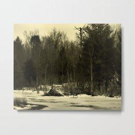 Beaver Lodge 'n Pines Metal Print