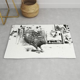 Rodeo Bull Riding Champ Rug