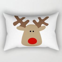 Christmas Reindeer-White Rectangular Pillow