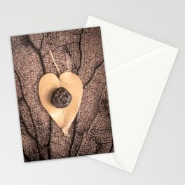 Heart Leaf Stationery Cards