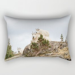 Three Ami-Goats // Scenic Hike Animals Photograph Colorado Wildlife National Park Mountain Goats Rectangular Pillow