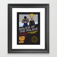Malice At The Palace Framed Art Print