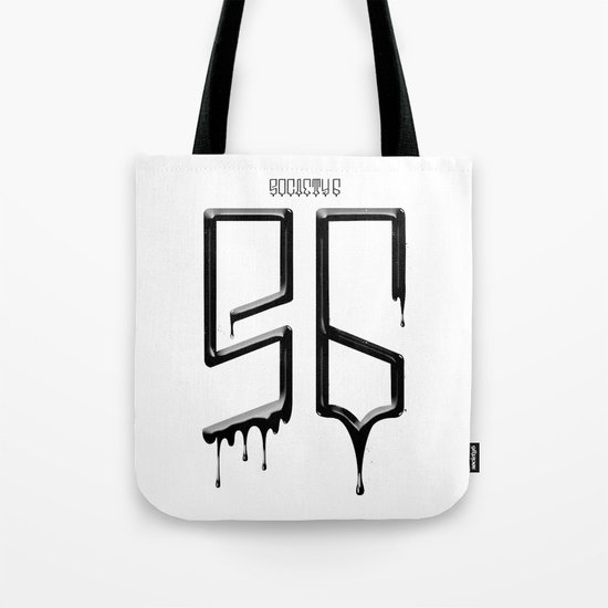 S6 TEE BLACK PAINT Tote Bag
