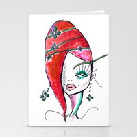 redhead Stationery Cards featuring Redhead by Hannah Grunden