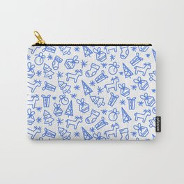Elegant Christmas Background with line icons. Carry-All Pouch