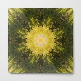 Forest Lore Mandala Metal Print
