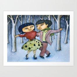 Winter Dance Art Print
