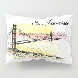 San Francisco. Watercolor and ink. Pillow Sham