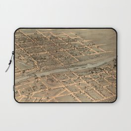 Vintage Pictorial Map of Bethlehem PA (1878) Laptop Sleeve