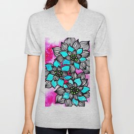 Flower Power 3 Unisex V-Neck