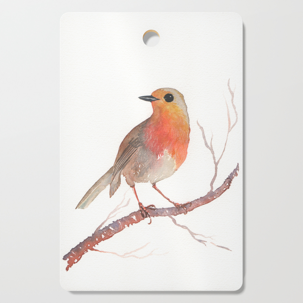 Robin Redbreast Cutting Board by marchand2reves (DCB10270937) photo